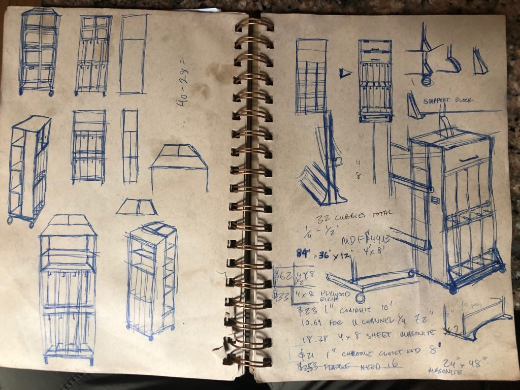 bookcase cubby sketch